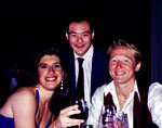 Football: Vectors, Honore, Stephan and  Arianne at JP's wedding reception 1994