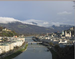 From Monchberg view Salzburg on Salzach River