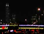 Night: Chicago Sears Tower over the Kennedy Expressway