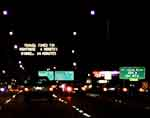 Night: Chicago's Kennedy Expressway heading Northbound I-90/94