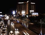 Las Vegas by Night: View of Mandalay Bay and Hotel Excalibur on the Strip